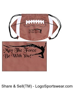 Football Drawstring Backpack Design Zoom